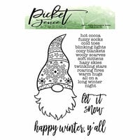 Picket Fence Studios - Clear Photopolymer Stamps - A Gnome Winter