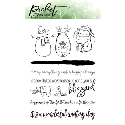 Picket Fence Studios - Clear Photopolymer Stamps - Have A Wonderful Wintery Day