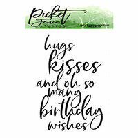 Picket Fence Studios - Clear Photopolymer Stamps - Oh So Many Birthday Wishes