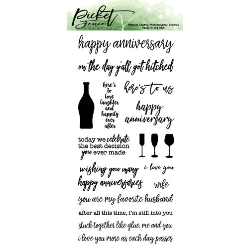 Picket Fence Studios - Clear Photopolymer Stamps - Ways To Say Happy Anniversary