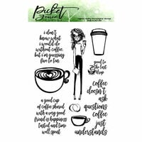Picket Fence Studios - Clear Photopolymer Stamps - Coffee Understands