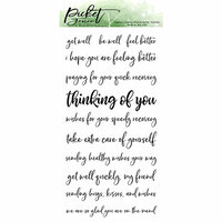 Picket Fence Studios - Clear Photopolymer Stamps - Ways To Say Get Well