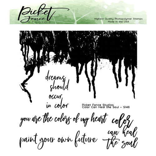 Picket Fence Studios - Clear Photopolymer Stamps - Color Heals The Soul