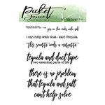 Picket Fence Studios - Clear Photopolymer Stamps - Tequila and Duct Tape