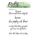 Picket Fence Studios - Clear Photopolymer Stamps - It's Peopley Out There