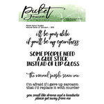 Picket Fence Studios - Clear Photopolymer Stamps - Natural State of Sarcasm