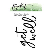 Picket Fence Studios - Clear Photopolymer Stamps - Get Well