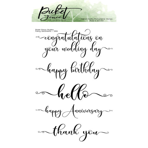 Picket Fence Studios - Clear Photopolymer Stamps - Fancy Sentiments