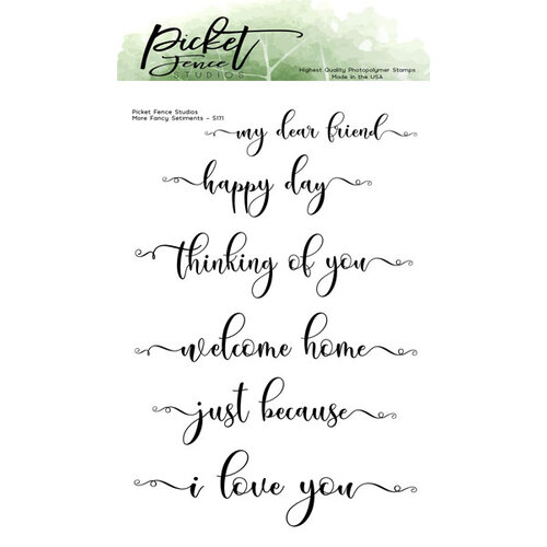 Picket Fence Studios - Clear Photopolymer Stamps - More Fancy Sentiments