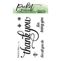 Picket Fence Studios - Clear Photopolymer Stamps - Thank You for Being You