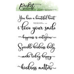 Picket Fence Studios - Clear Photopolymer Stamps - Fancy Daily Sentiments