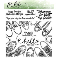 Picket Fence Studios - Clear Photopolymer Stamps - Hello