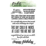 Picket Fence Studios - Clear Photopolymer Stamps - Inside Quotes - Birthday