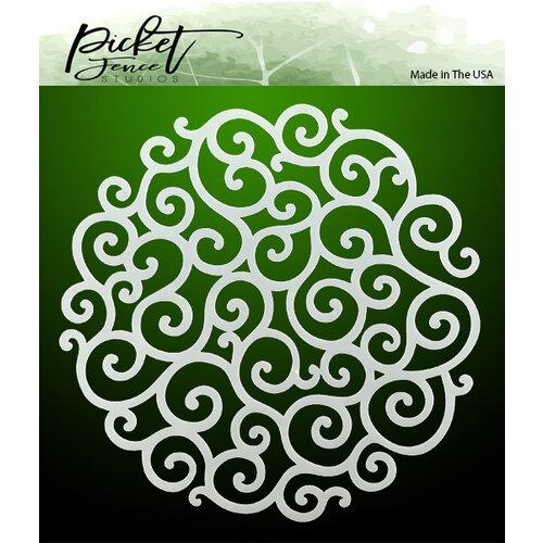 Picket Fence Studios - 6 x 6 Stencils - Flourish Circle