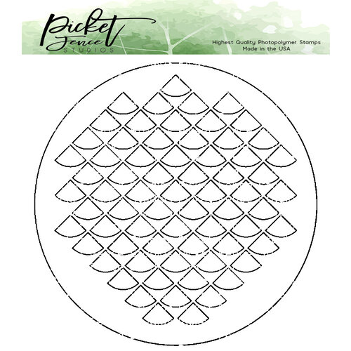 Picket Fence Studios - Stencil - Fish Scales