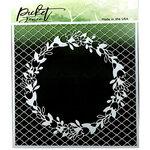 Picket Fence Studios - 6 x 6 Stencil - Quatrefoil Bouquet
