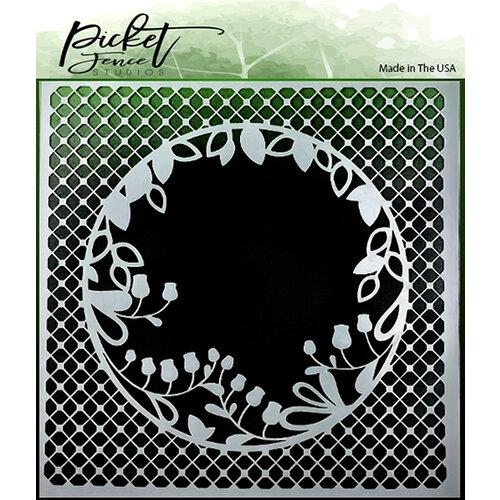 Picket Fence Studios - Stencil - 6 x 6 - Peek A Boo Flower