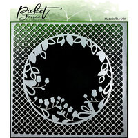 Picket Fence Studios - Stencil - 6 x 6 - Peek A Boo Flower
