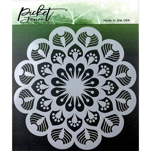 Picket Fence Studios - Stencil - Peacock Mandala