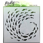 Picket Fence Studios - Stencil - Current of Fish