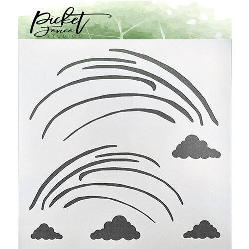 Picket Fence Studios - Stencil - Funky Rainbow