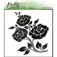 Picket Fence Studios - 6 x 6 Stencils - Peonies