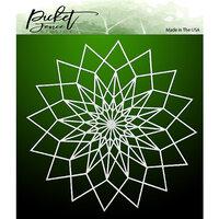 Picket Fence Studios - Stencil - 6 x 6 - Triangle Collage