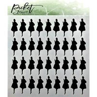 Picket Fence Studios - Stencil - 6 x 6 - Fashion Icon