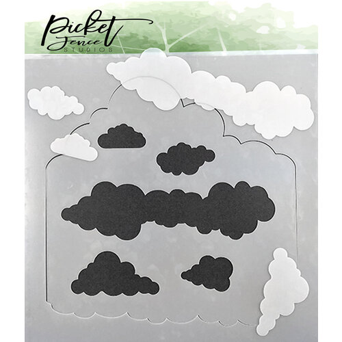 Picket Fence Studios - Stencil - Layers of Clouds