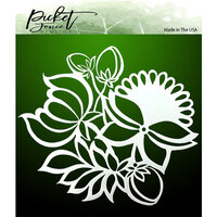 Picket Fence Studios - Stencil - Leaves and Flowers