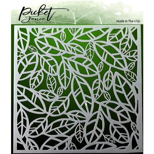 Picket Fence Studios - 6 x 6 Stencils - Funky Leaves