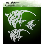 Picket Fence Studios - Stencil - Tropical Angelfish