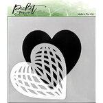 Picket Fence Studios - Stencil - Spliced Heart