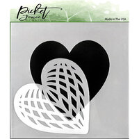 Picket Fence Studios - Stencil - Spliced Heart