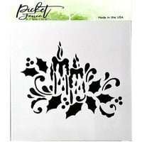 Picket Fence Studios - 6 x 6 Stencil - Candlelight
