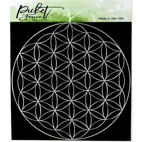 Picket Fence Studios - 6 x 6 Stencil - Flower of Life
