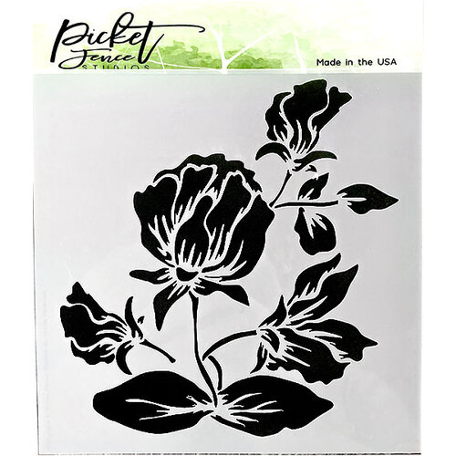 Picket Fence Studios - 6 x 6 Stencil - Shading Flower
