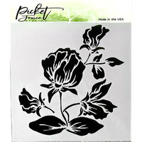 Picket Fence Studios - 6 x 6 Stencil - Shading Flower