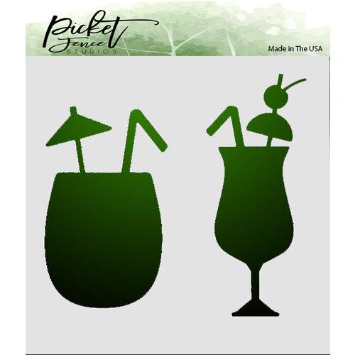 Picket Fence Studios - 6 x 6 Stencils - Tropical Drinks
