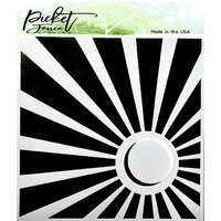Picket Fence Studios - 6 x 6 Stencils - Corner Sun