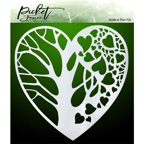 Picket Fence Studios - Stencils - Tree of Hearts