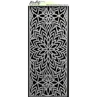 Picket Fence Studios - 4 x 10 Stencils - Slimline - Center Flower