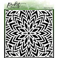 Picket Fence Studios - 6 x 6 Stencils - Center Flower