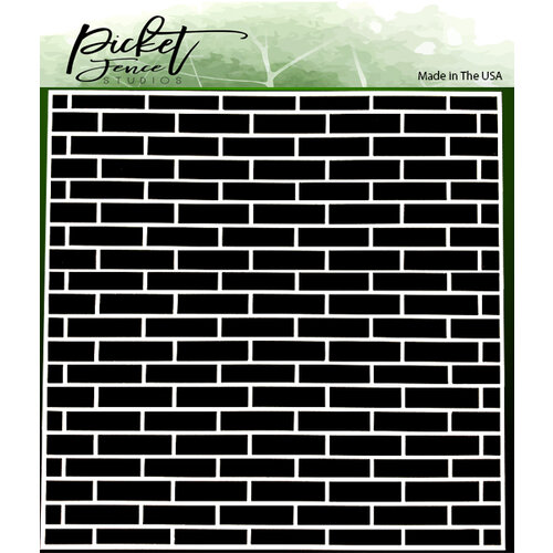 Picket Fence Studios - 6 x 6 Stencils - English Brick Wall