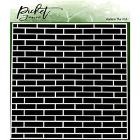 Picket Fence Studios - 6 x 6 Stencils - English Brick Wall