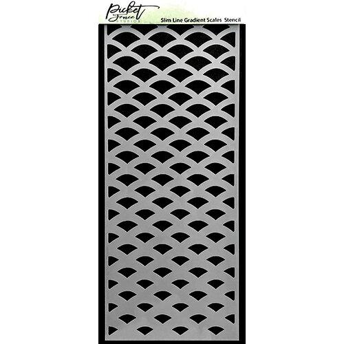 Picket Fence Studios - 4 x 10 Stencils - Slimline - Gradient