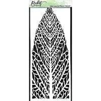 Picket Fence Studios - 4 x 10 Stencils - Slimline - Reversed Leaf