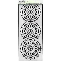 Picket Fence Studios - 4 x 10 Stencils - Slimline - Reversed Handcut Snowflake