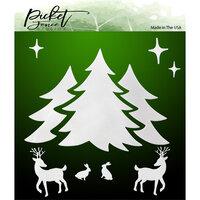 Picket Fence Studios - 6 x 6 Stencils - A Winter Scene
