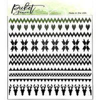 Picket Fence Studios - 6 x 6 Stencils - Arctic Winter
